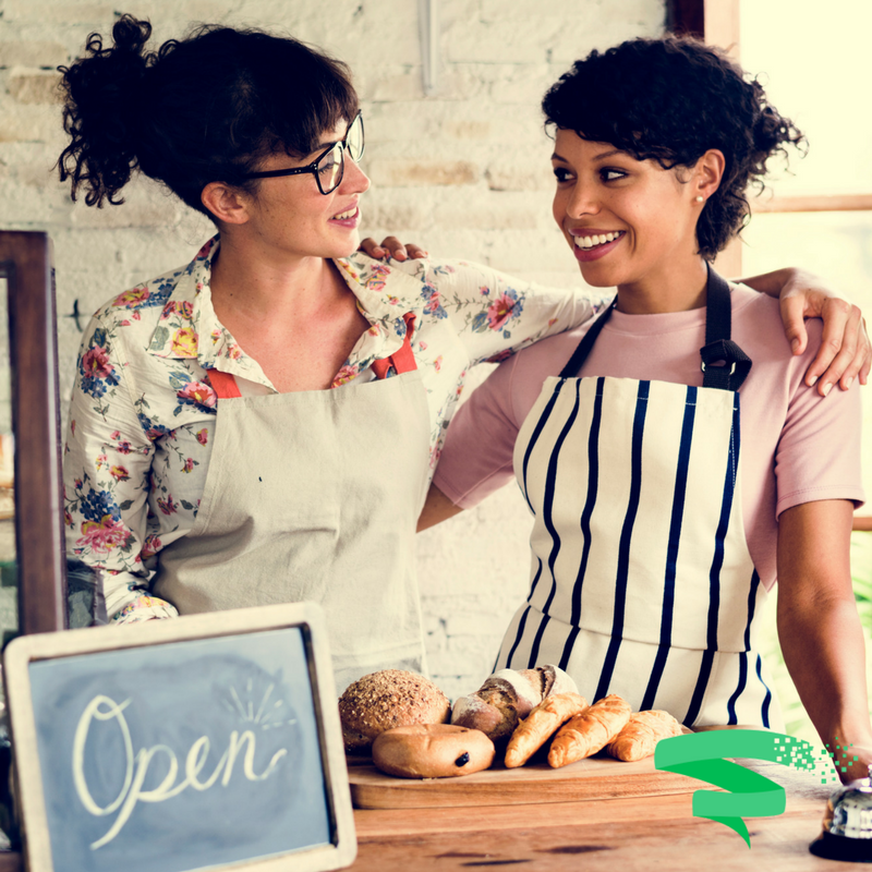 2 women small business owners